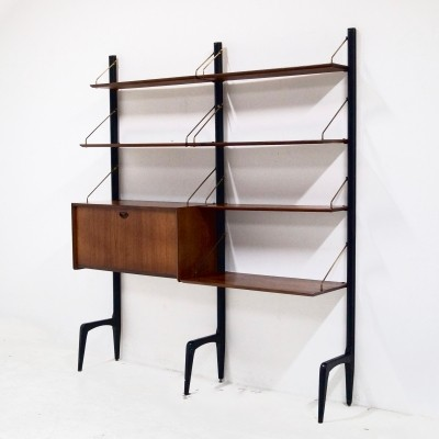 Teak Wall Unit by Louis van Teeffelen for WeBe, 1950's