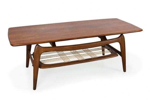 Teak wooden coffee table by Louis van Teeffelen for WeBe, 1960s