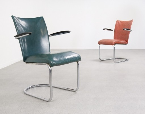 Pair of lounge chairs by Martin de Wit for De Wit, 1950s