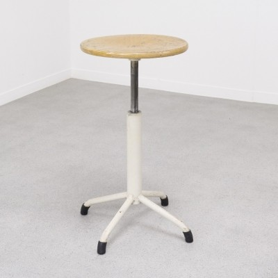 Industrial working stool, 1950s