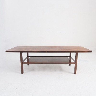Danish mid-century coffee table in rosewood by Søborg Møbelfabrik