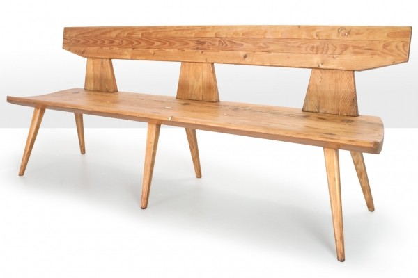 Jacob Kielland Brandt Bench in pine wood, 1960s