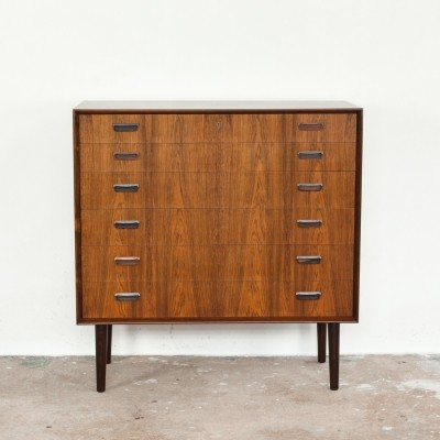 Wider Danish chest of 6 drawers in rosewood