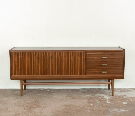1960s sideboard in zebrano wood by Bär Möbel