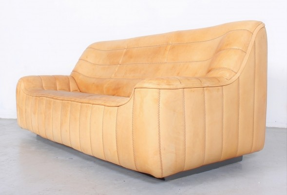 Comfortable neckleather DS84 3-seater sofa by De Sede