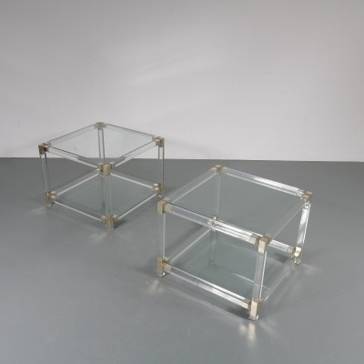 1970s Pair of luxurious side tables
