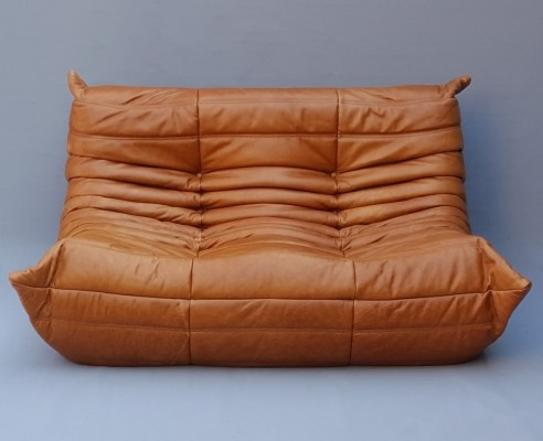 Leather Togo Sofa by Michel Ducaroy for Ligne Roset