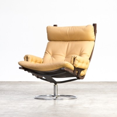 70s Bruno Mathsson swivel chair for Dux