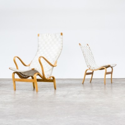 Pair of Bruno Mathsson 'pernilla' chairs for Dux, 1970s