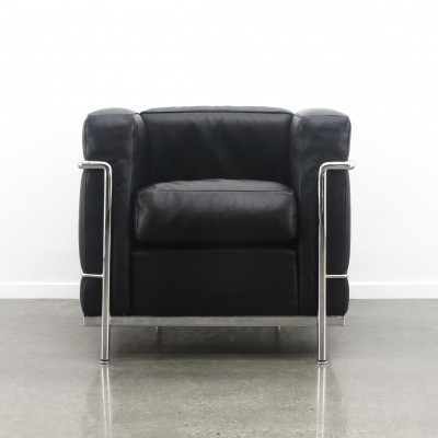 LC2 arm chair by Le Corbusier & Charlotte Perriand for Cassina, 1990s