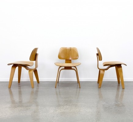 6 x DCW (Dining chair wood) dinner chair by Charles & Ray Eames for Herman Miller, 1960s