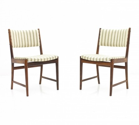Pair of Kai Lyngfeldt Larsen dinner chairs, 1960s