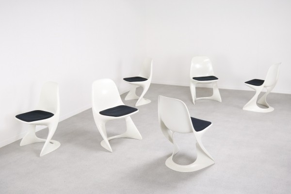 Set of 6 2001/2002 dining chairs by Alexander Begge for Casala, 1970s