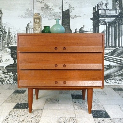 German Mid-Century Modern Teak Chest of Drawers, 1960s