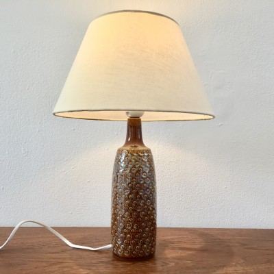 Vintage Brown Danish Ceramic Table Lamp by Einar Johansen for Soholm Stentoj