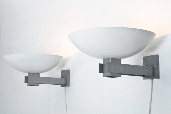 Pair of Marathon wall lamps by Raak Amsterdam, 1960s