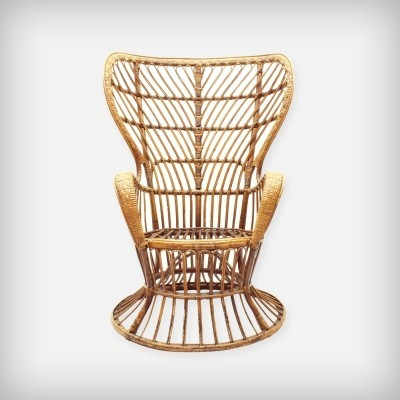 'Conte Biancamano' Wicker Lounge Chair by Gio Ponti & Lio Carminati, 1950s