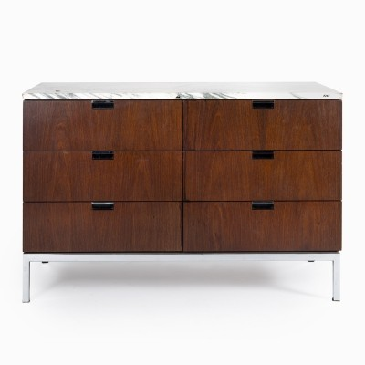 Original palisander credenza made by Knoll with a marble board, 1960s