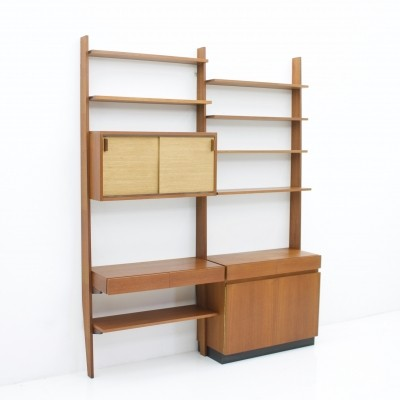Dieter Waeckerlin Shelf System Wall Unit in Teak Wood by Behr Germany, 1950s