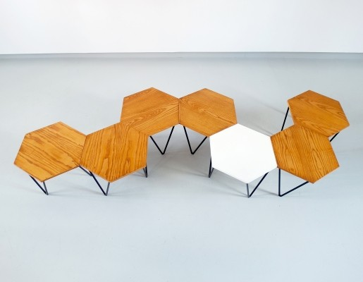 Gio Ponti modular coffee tables for I.S.A., Italy ca. 1950
