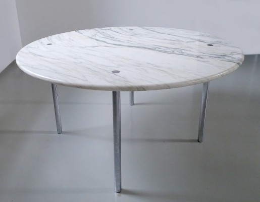 Carrara marble dining table by Estelle & Erwin Laverne, USA 1950s