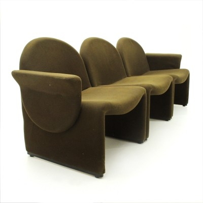 Set of 3 Green Alky armchairs by Giancarlo Piretti for Anonima Castelli, 1970s