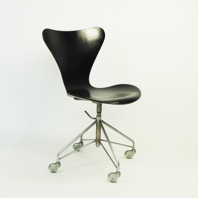 Office chair by Arne Jacobsen for Fritz Hansen, 1960s