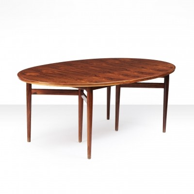 Arne Vodder Oval Dining Table for Sibast Furniture, Denmark 1960s