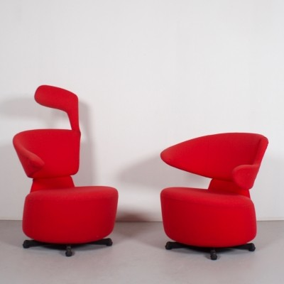 2 x arm chair by Toshiyuki Kita for Cassina, 1980s