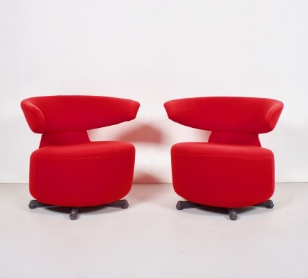 Pair of arm chairs by Toshiyuki Kita for Cassina, 1980s