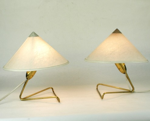 Pair of Austrian Midcentury Table or Wall Lights by Rupert Nikoll