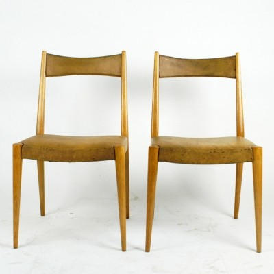 Pair of Austrian Midcentury Dining Chairs by Anna Lülja Praun