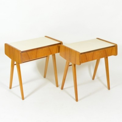 Set of bedside tables with formica desk, Czechoslovaki 1970s