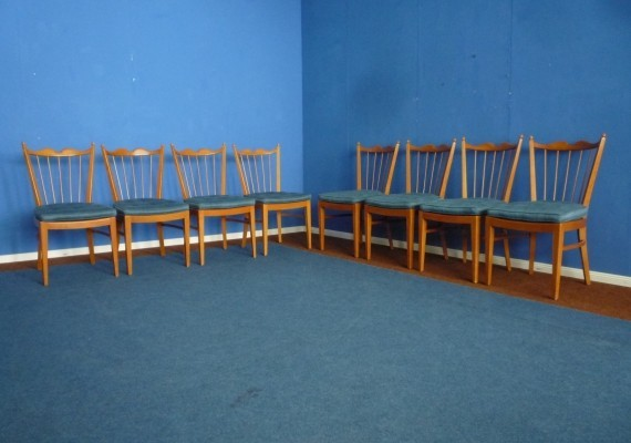 Cherry Wood Chairs by Schildknecht Stuttgart 1956, Set of eight