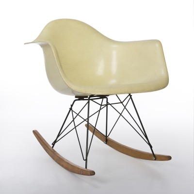 Original 1st Generation Zenith Lemon Yellow Eames RAR Rocking Arm Chair