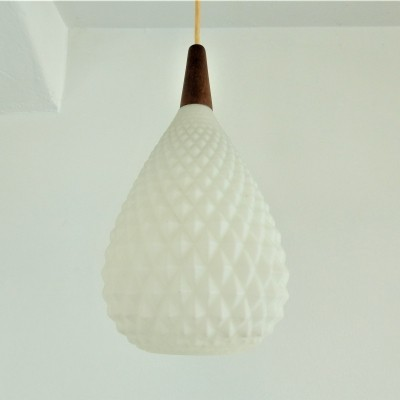 Pine cone shaped pendant light, 1960s