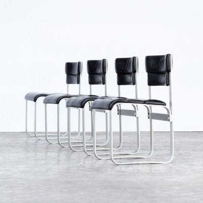 Set of 4 Pulkka dinner chairs by Ilmari Lappalainen for Asko, 1960s