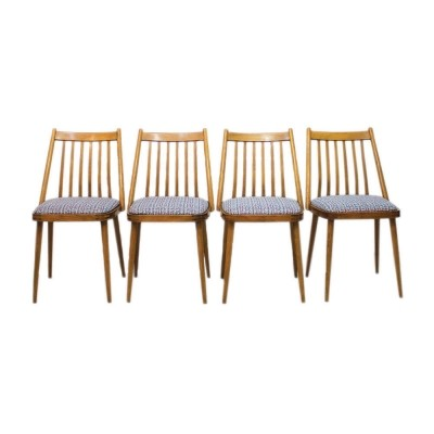 Set of 4 Hungarian dining chairs by Gábriel Frigyes for SZKIV Budapest, 1957