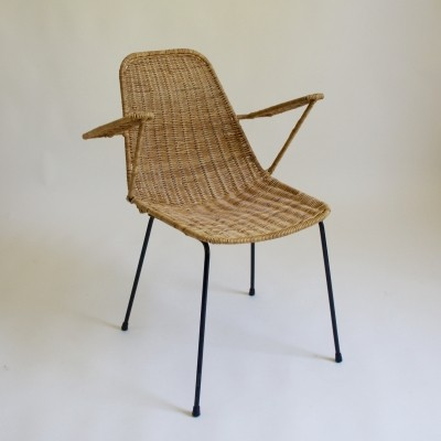 1950's Basket Chair by Gian Franco Legler