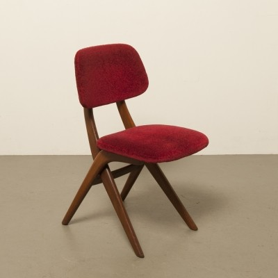 3 x dining chair by Louis van Teeffelen for Wébé, 1960s