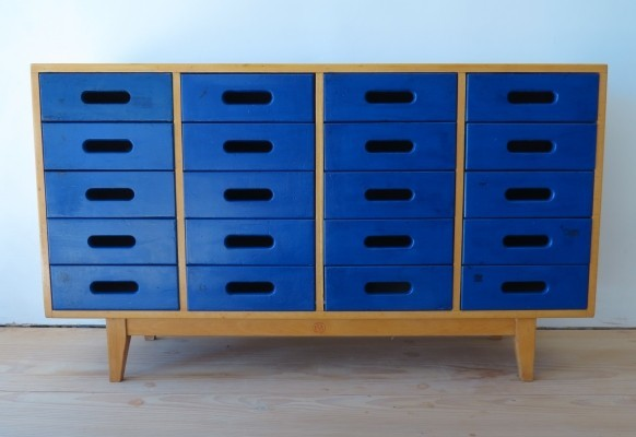 Blue Chest of drawers by James Leonard for Esavian