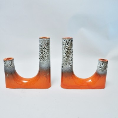Pair of candleholder, 1960s