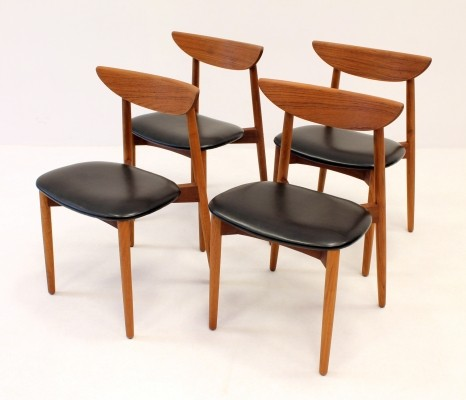 Set of 4 dinner chairs by Harry Ostergaard for Randers Mobelfabrik, 1960s