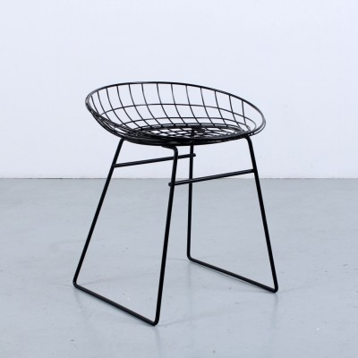 Black metal wire stool by Cees Braakman for Pastoe