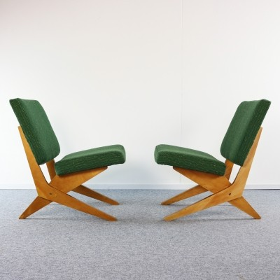 Set of two scissor easy chairs by van Grunsven for UMS Pastoe