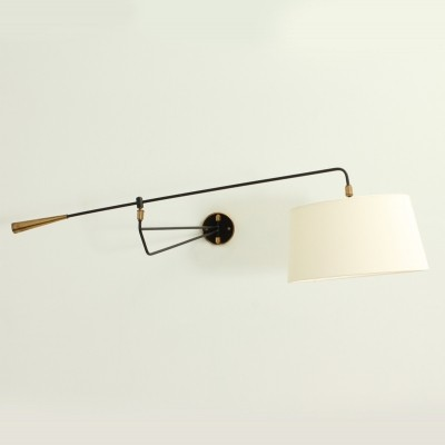 Large Double Arm Wall Lamp by Maison Lunel, 1950's