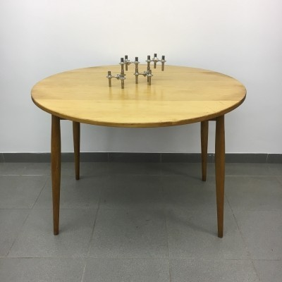 Vintage dining table with drop leaf, 1950's