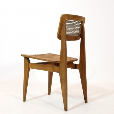 C dining chair by Marcel Gascoin for ARHEC, 1950s