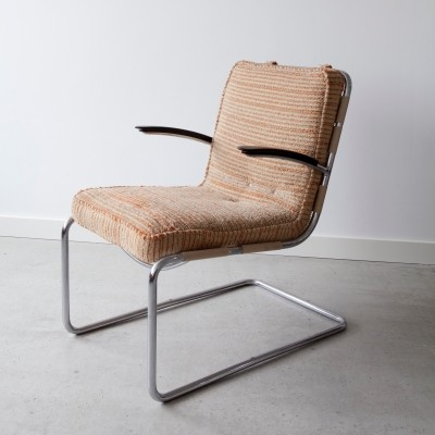 2 x No. 411 arm chair by W. Gispen, 1930s