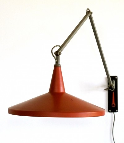 Giso 4050 wall lamp by Wim Rietveld for Gispen, 1950s